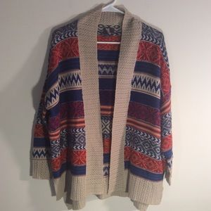Jeans By Buffalo Aztec Cardigan Size P/S P/M